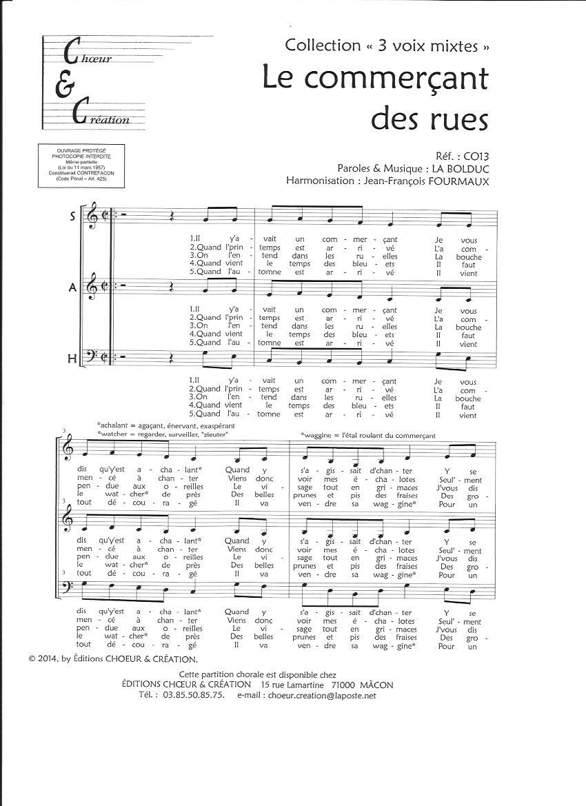 chœurs mixtes à 3 voix